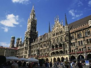 New City Hall, Marienplatz, Munich, Bavaria, Germany, ope Photographic Print by Ken Gillham