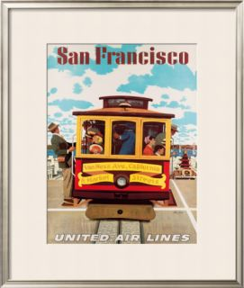 United Airlines: San Francisco, c.1950 Framed Giclee Print