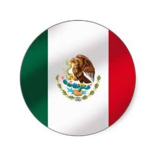 Mexican flag of Mexico Tees and gifts Round Stickers