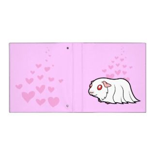 Cartoon Guinea Pig (albino) binders by SugarVsSpice