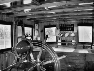 A View Showing the Interior of President Rafael L. Trujillos Yacht Ramfis Premium Photographic Print by Thomas D. Mcavoy