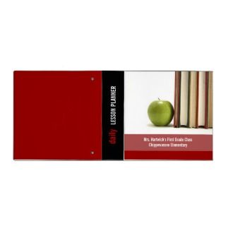 School Teachers Lesson Planner Binder