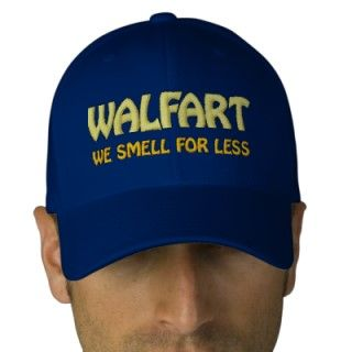 Immature Wal Mart Joke About Smelly Farts Embroidered Baseball Caps