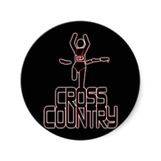CROSS COUNTRY WINNER   FINISH LINE STICKER