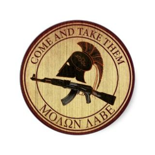 Molon Labe (Come and Take Them) Stickers