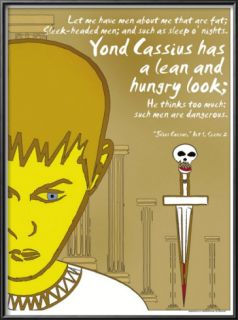 Julius Caesar Lean and Hungry Lamina Framed Art Print