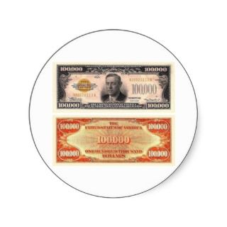 Hundred Thousand Dollar Bill Sticker