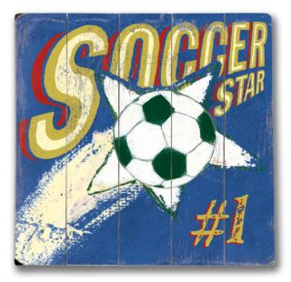Soccer Star (Boy) Wood Sign