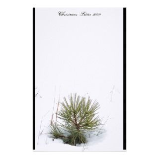 Snowy Mountain Christmas Letter 2009 Stationery Paper
