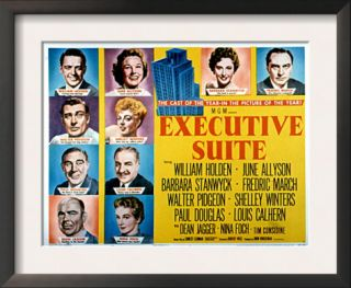 Executive Suite, William Holden, June Allyson, Barbara Stanwyck, and Fredric March, 1954 Pre made Frame