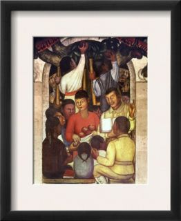 Rivera Education, 1926 Framed Giclee Print by Diego Rivera