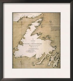 Cook: Newfoundland, 1763 Framed Giclee Print by James Cook