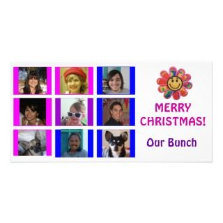 Style Grid Birthday Christmas Card Photo Card Template