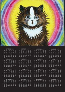 Cat in a Rainbow Poster Calendar by Louis Wain