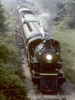 Ex Northern Pacific 4 6 0 Steam Locomotive #328 on a Steam Fan Trip Photographic Print by Kent Kobersteen