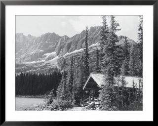Cabin and Mts at Lake OHara Pre made Frame