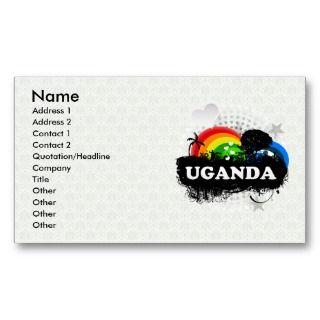 Cute Fruity Uganda Business Card Templates