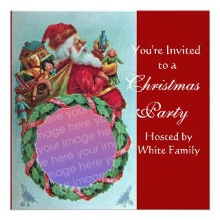 162892279_funnyhumorous-santa-vintage-photo-template-red-custom-  Letter Monogram Template Bug on