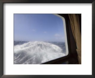 View from the Cabin of the Antarctic Dream Navigation in Rough Seas Near Cape Horn, South America Pre made Frame