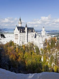 Neuschwanstein Castle, Bavaria, Germany, ope Photographic Print