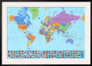 World Map Pre made Frame