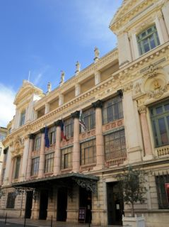 Facade of the Opera Theatre, Nice, Alpes Maritimes, Provence, Cote DAzur, French Riviera, France,  Photographic Print by Peter Richardson