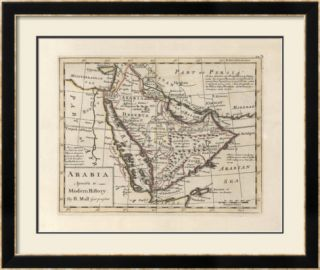 Arabia, Agreeable To Modern History PreFramed Print