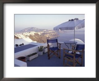View Toward Caldera, Imerovigli, Santorini, Greece Pre made Frame