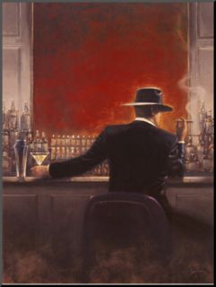 Cigar Bar Mounted Print by Brent Lynch