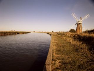 Stracey Arms Windpump, River Bure, Norfolk Broads, Norfolk, England, United Kingdom Photographic Print by David Hughes