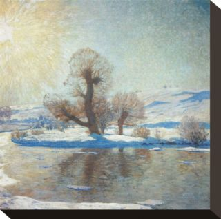 Winter Landscape Stretched Canvas Print by Eugen Bracht