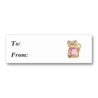 Cute House Cleaning Bear Business Card Template