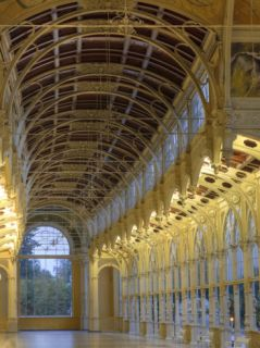 Czech Republic, Marianske Lazne, Colonnade Cast Iron Arcade (Kolonada) Photographic Print by Michele Falzone