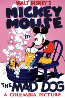 Mickey Mouse in The Mad Dog Serigraph