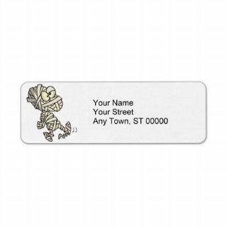 cute mummy kid cartoon character return address labels