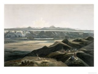 Rocky Mountains, Plate 44, Travels in the Interior of North America, Engraved Himely Giclee Print by Karl Bodmer