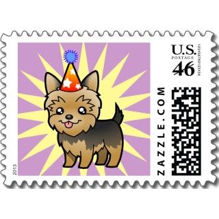 Birthday Yorkie (puppy cut) stamps by SugarVsSpice
