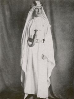 T E Lawrence (Lawrence of Arabia) Full Length Photograph in Arab Dress Photographic Print