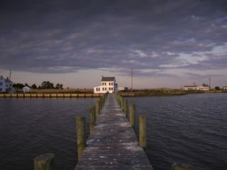 Tylerton from a Dock in the Chesapeake Bay Photographic Print by Aaron Huey