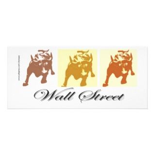 Wall Street Bull Market Rack Card Design
