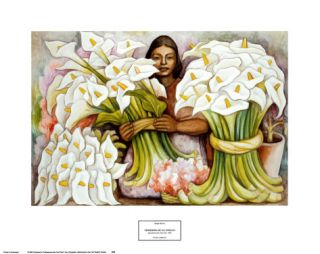 Vendedora de Alcatraces Print by Diego Rivera
