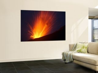 Vulcanian Eruption of Anak Krakatau Volcano, Sunda Strait, Java, Indonesia Wall Mural by Stocktrek Images
