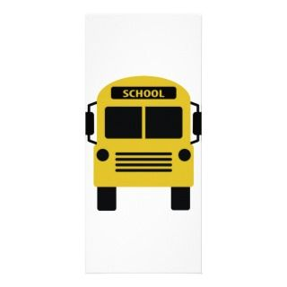 yellow school bus icon customized rack card