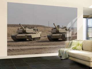 M1 Abrams Tank at Camp Warhorse Wall Mural – Large
