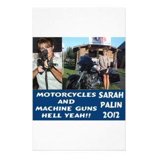 Motorcycles and Machine Guns Sarah 2012 Stationery Design