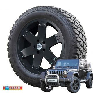 9x20 + 275/60R20 Cooper Jeep Wrangler JK 2007 12 wheel black