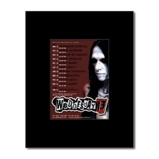 WEDNESDAY 13   UK Tour 2008   Black Matted Mini Poster