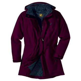 Jack Wolfskin 5th Avenue Coat Women Dark Berry Damen Mantel