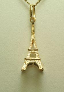 Anhänger 750 18 kt. Gold Gelbgold Eiffelturm Paris