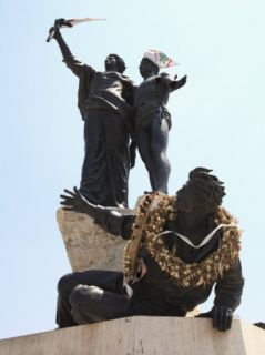Martyrs Statue, Martyrs Square, Downtown, Beirut, Lebanon, Middle East Photographic Print by Wendy Connett